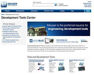 Mouser Electronics lance un site dédié aux outils de développement