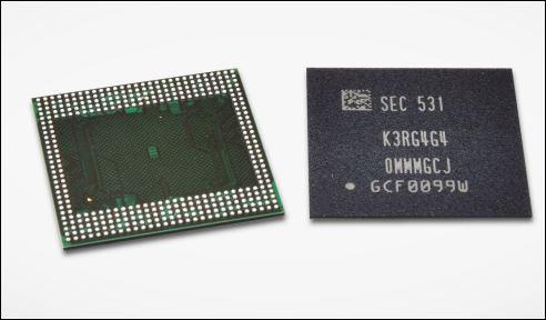 Première mémoire DRAM LPDDR4 12Gbits