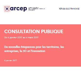 L'Arcep lance une consultation publique sur l'utilisation des bandes de fréquences 2,6 GHz et 3,5 GHz