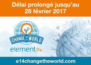 Farnell element14 prolonge son concours « Change the world »