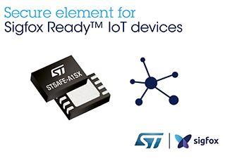 STMicroelectronics collabore avec Sigfox pour étendre la sécurité de l'Internet des objets en Plug-and-Play aux fabricants de produits industriels et grand public. ST étend ainsi sa famille d'éléments sécurisés STSAFE avec une nouvelle solution plug-and-p