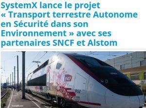 Un projet pour automatiser les fonctions d'observation d'un conducteur de train