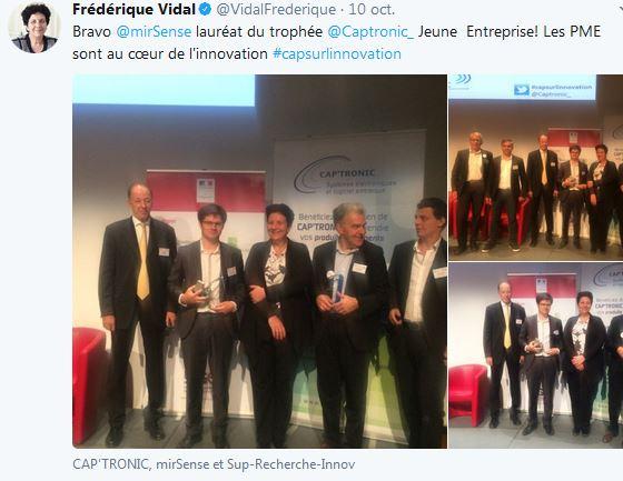 Vel'co, Pixience, Euveka, MirSense et Auxivia remportent les 11e Trophées Cap'Tronic