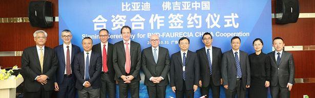 Voiture électrique : Faurecia crée une société commune avec le Chinois BYD