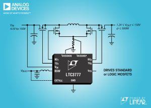 Contrôleur, abaisseur-élévateur, synchrone, 150V en entrée et sortie | Analog Devices