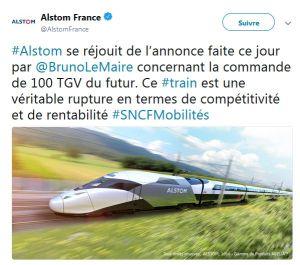 La commande de 100 TGV du futur à Alstom est sur les rails