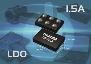 Régulateurs LDO 1,5 A en boîtier miniature | Toshiba