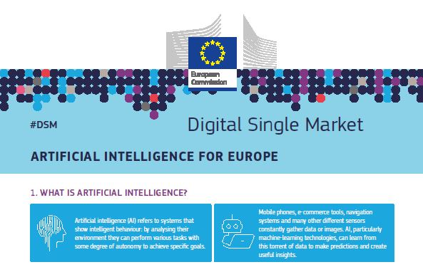 Intelligence artificielle : l'Europe compte mobiliser 20 milliards d'euros d'ici fin 2020