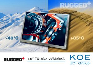 Ecran TFT WXGA Rugged+ de 7,0 pouces | KOE