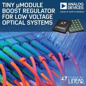 Petit régulateur élévateur pour systèmes optiques basse tension | Analog Devices