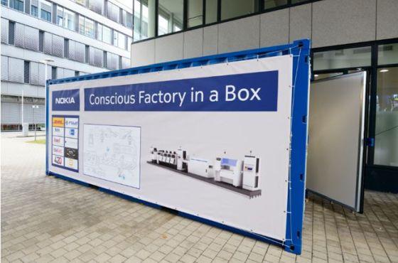 Nokia met une usine dans un container