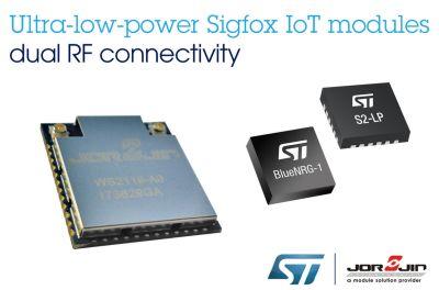 Modules IoT Sigfox avec double connectivité RF : STMicroelectronics/Jorjin