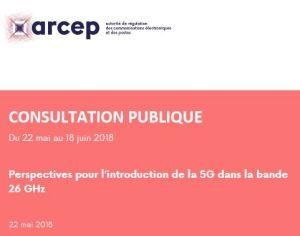 L'Arcep ouvre une consultation publique sur la libération de la bande 26 GHz pour les réseaux 5G