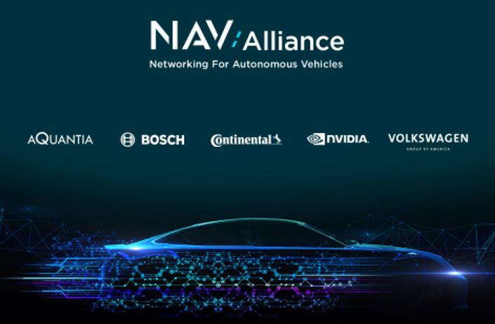 Aquantia, Bosch, Continental, Nvidia et Volkswagen créent l'alliance de mise en réseau pour les véhicules autonomes