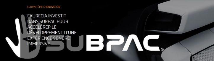 Faurecia investit dans Subpac pour accélérer le développement d'une expérience sonore immersive