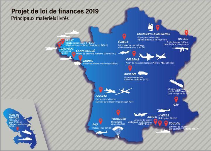 Hausse de 7% du budget d'équipement du ministère des armées en 2019