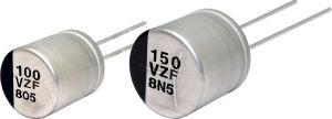 Condensateurs hybrides traversants en polymère conducteur jusqu'à 150 °C | Panasonic