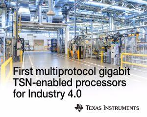Processeurs multiprotocoles compatibles TSN pour l'industrie 4.0 | Texas Instruments