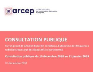 L'Arcep lance une consultation publique sur les conditions d'utilisation des fréquences par des dispositifs à courte portée