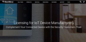 Licences « BlackBerry Secure» pour le développement d'équipements IoT sécurisés