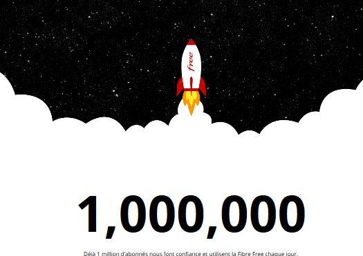 Free revendique 1 million d'abonnés à la fibre optique