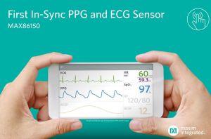 Module biocapteur intégré à fonctions PPG et ECG | Maxim