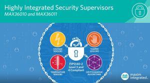 Superviseurs de sécurité mono-puce pour la protection des données IoT   Maxim