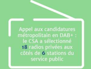 Le CSA désigne les 24 radios nationales en DAB+