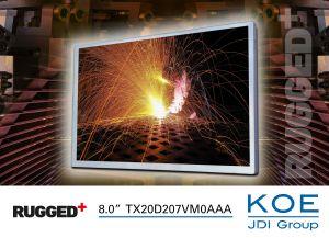 Ecran TFT WXGA Rugged+ de 8,0 pouces | KOE