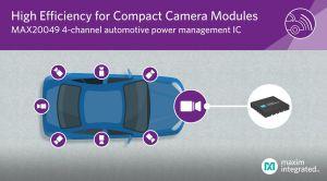 PMIC automobile 4 canaux pour modules caméras embarqués | Maxim