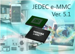 Mémoires embarquées BiCS FLASH conformes e-MMC Ver. 5.1   Toshiba Memory