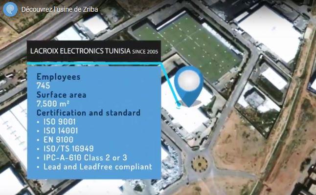 Incendie accidentel contenu chez Lacroix Electronics Tunisie