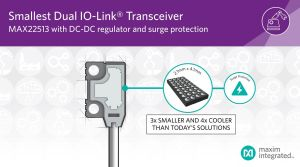 Double transpondeur IO-Link à régulateur CC-CC   Maxim