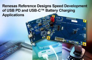 Modèles de référence pour recharge de batteries USB PD et USB-C | Renesas