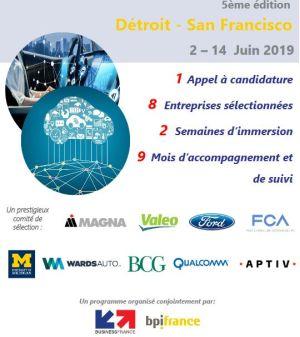 Véhicule autonome et connecté : huit entreprises françaises en immersion aux Etats-Unis