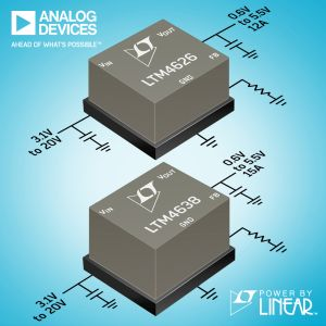 Régulateurs μModule 12 A et 15 A | Analog Devices