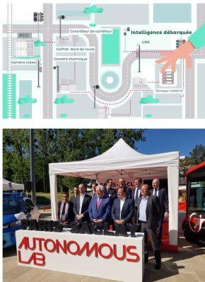 Inauguration du Paris-Saclay Autonomous Lab, expérimentation de services de mobilité autonome connectés aux infrastructures