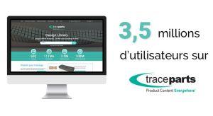Modèles CAO : TraceParts atteint 3,5 millions d'utilisateurs inscrits