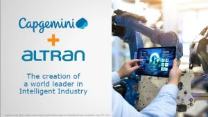Capgemini rachète Altran pour 5 milliards d'euros