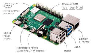 Ordinateur monocarte Raspberry Pi 4 modèle B