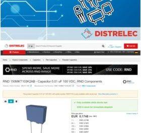 Le distributeur Distrelec s'allie à TraceParts pour l'implantation de modèles 3D
