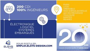 Elsys Design compte recruter 200 ingénieurs en 2020