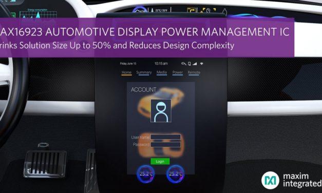 Circuit de gestion d'alimentation d'écrans automobiles | Maxim