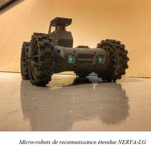 La DGA réceptionne les premiers micro-robots terrestres du programme Scorpion