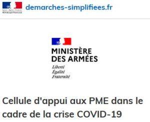 Epidémie Covid-19 : le ministère des Armées soutient ses PME