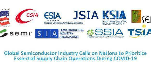 L'industrie mondiale des semiconducteurs appelle à instaurer une continuité des opérations pendant la pandémie