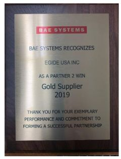 BAE Systems distingue Egide en tant que fournisseur niveau OR