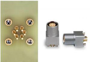 Contacts press-fit pour embases coudées ou droites sur circuit imprimé | Lemo