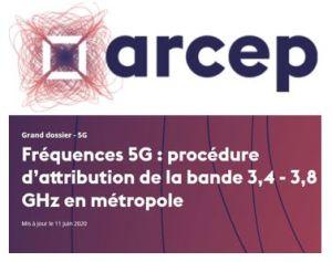 L'Arcep assouplit l'obligation d'une ouverture de la 5G avant la fin 2020 et renforce la 4G