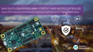 Microcontrôleur ultra-sobre pour applications industrielles, de santé et de capteurs IoT | Maxim